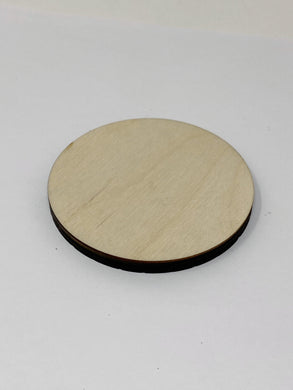 3 Inch Laser Cut Baltic Birch Disc