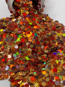 Falling Leaves - Holographic Shape Glitter -  1 oz