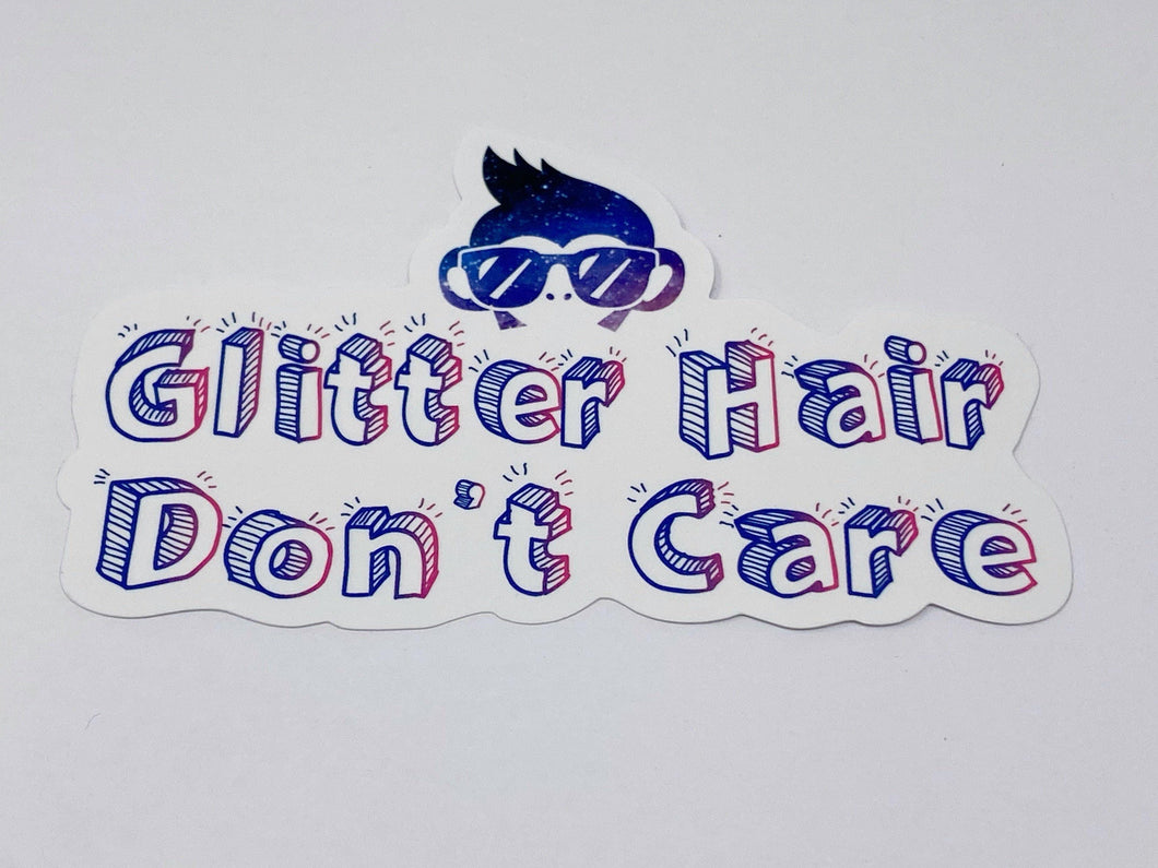 **Old School Glitter Hair Decal**