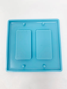 Double Rectangular Switch Cover - Silicone Mold  - Light Switch