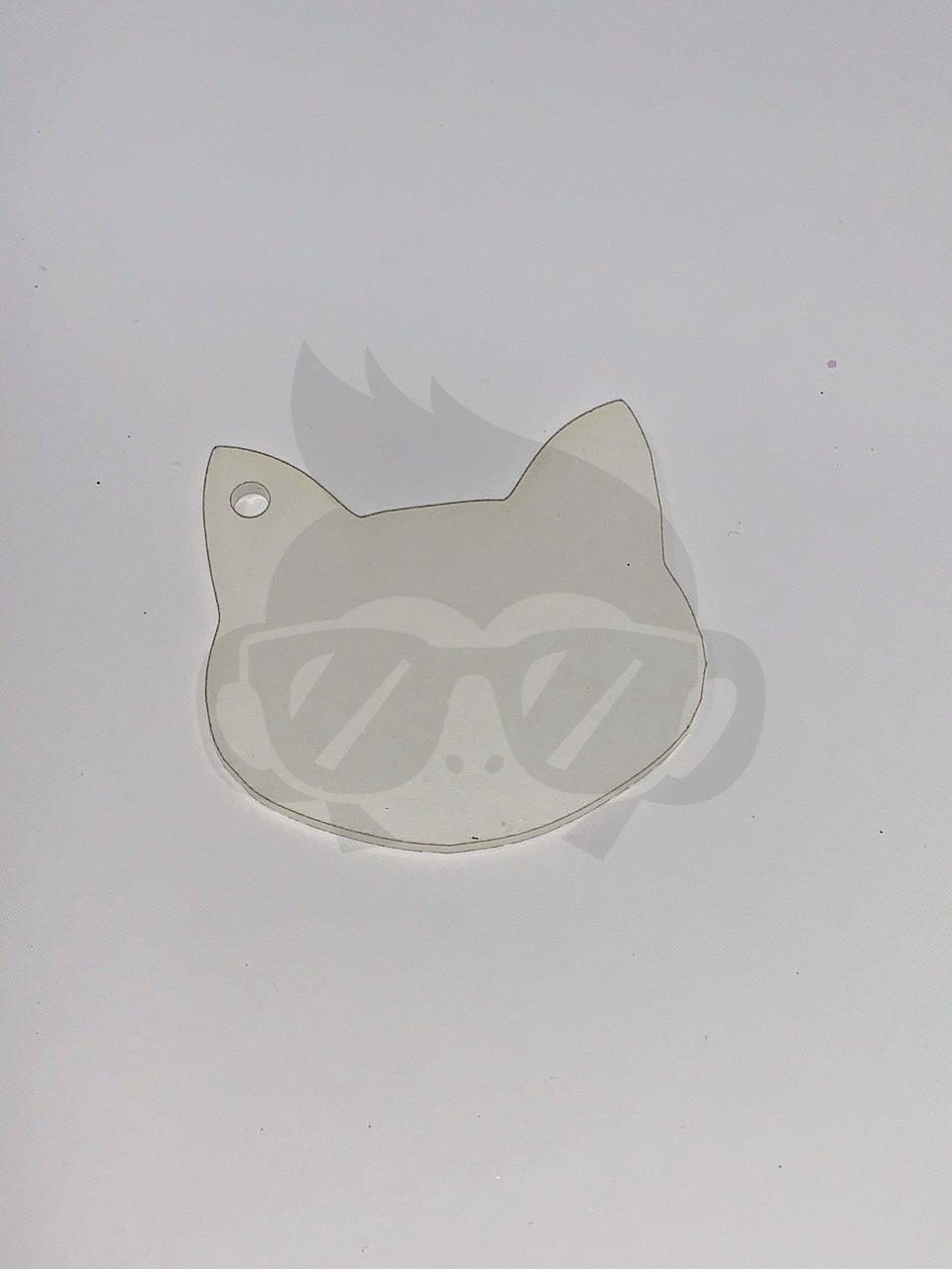 Acrylic Cat Shaped Key Chain