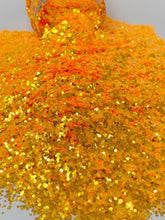 Load image into Gallery viewer, Atomic Orange - Chunky Rainbow Glitter
