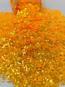Atomic Orange - Chunky Rainbow Glitter