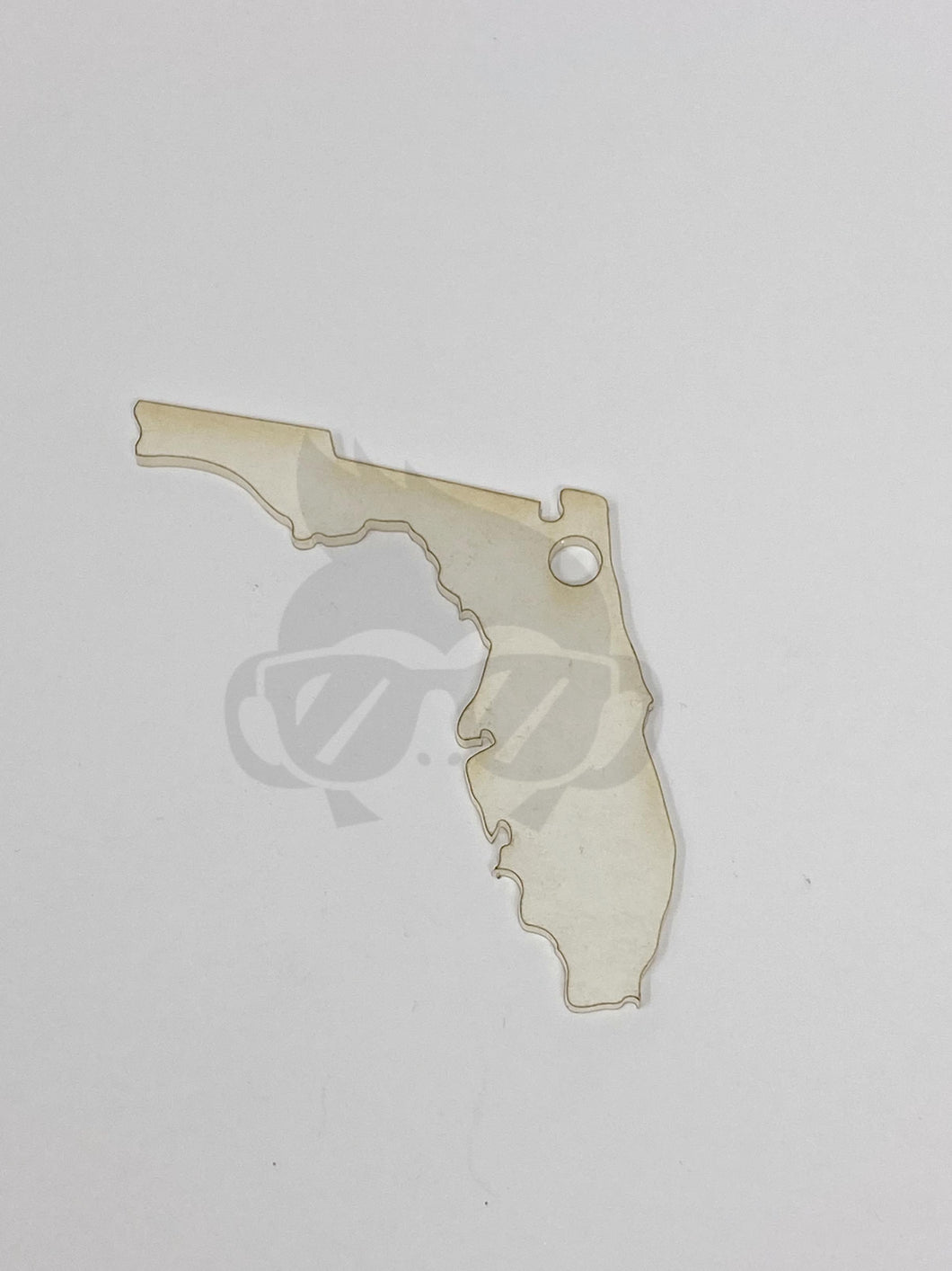Acrylic Florida Shaped Key Chain