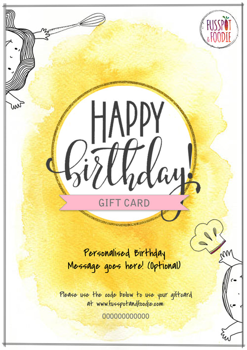 Happy Birthday! Giftcard