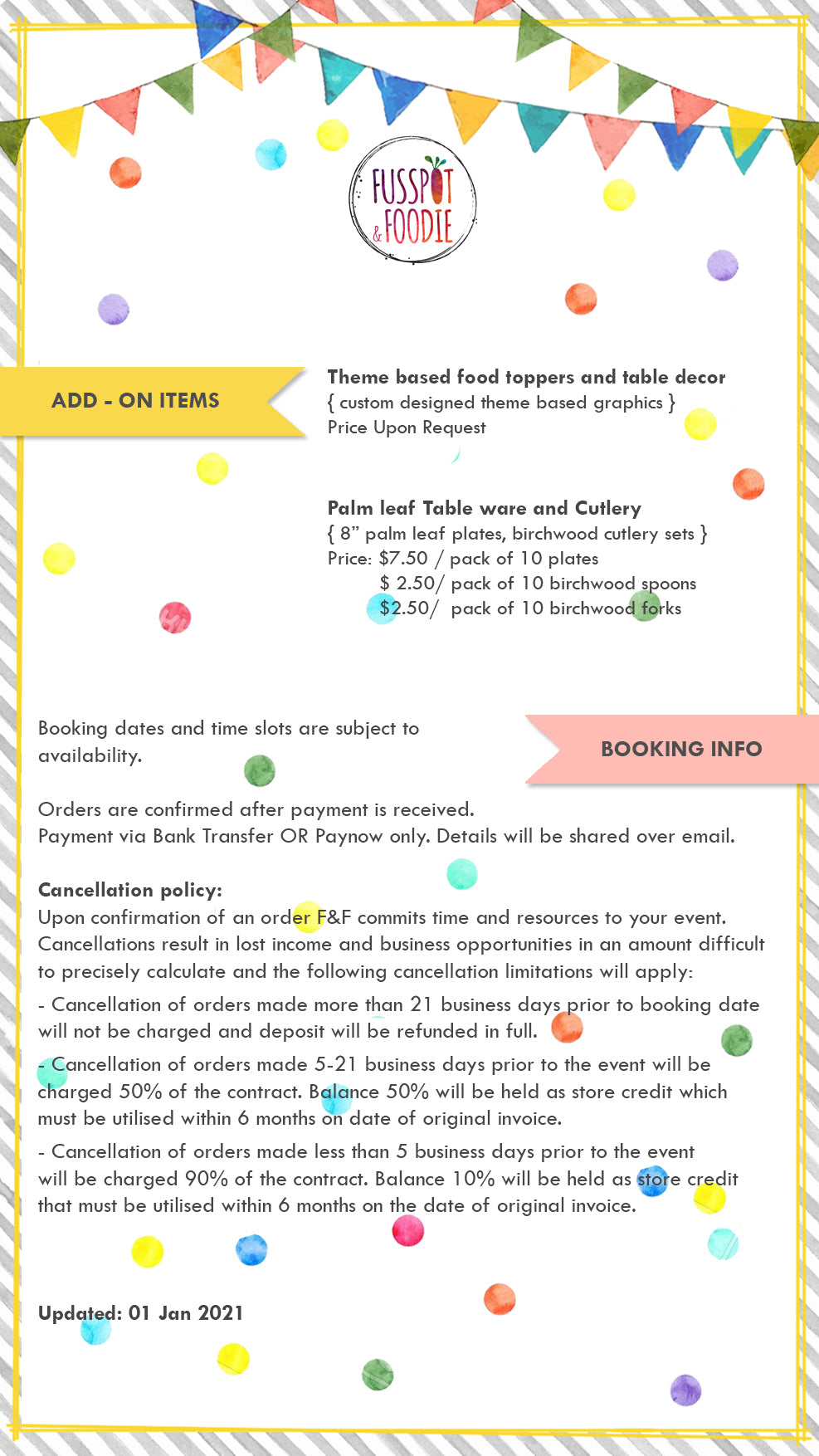 Kids Party Set  Menu