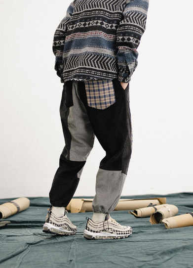 Patchwork Joggers