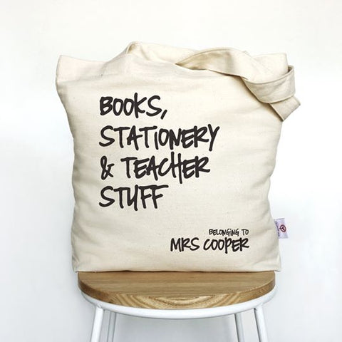Personalised Canvas Tote Bag for Teachers End Of Year Gift 2019