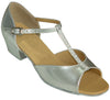 Silver T-Strap # 160906B - EveriseDanceShoes