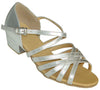 Silver Straps # 161301B - EveriseDanceShoes