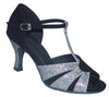 Black/Silver Glitter # 167402 - EveriseDanceShoes