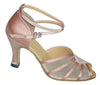 Flesh Satin/ Mesh # 601804 - EveriseDanceShoes