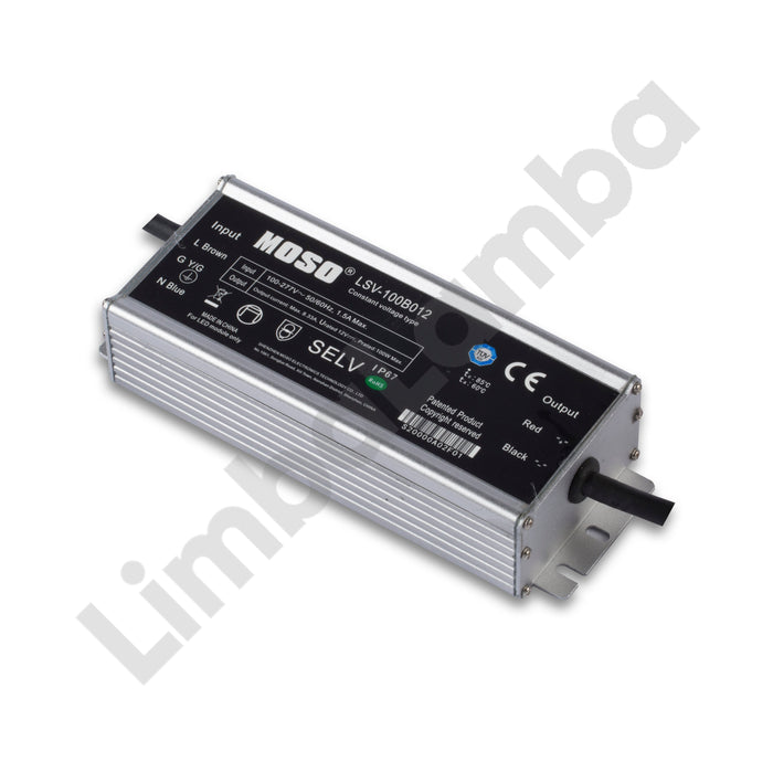 MOSO LSV-100B012 Outdoor Metal Case 100W - 12V Constant Voltage LED Driver