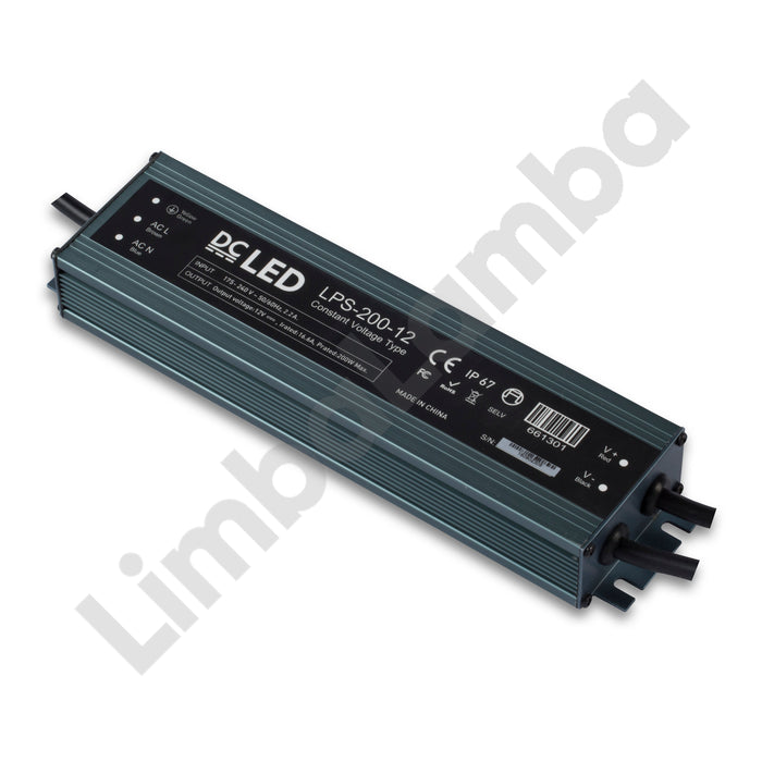 DCLED LPS200-12 Outdoor - Metal Case 200W - 12V Constant Voltage LED Driver