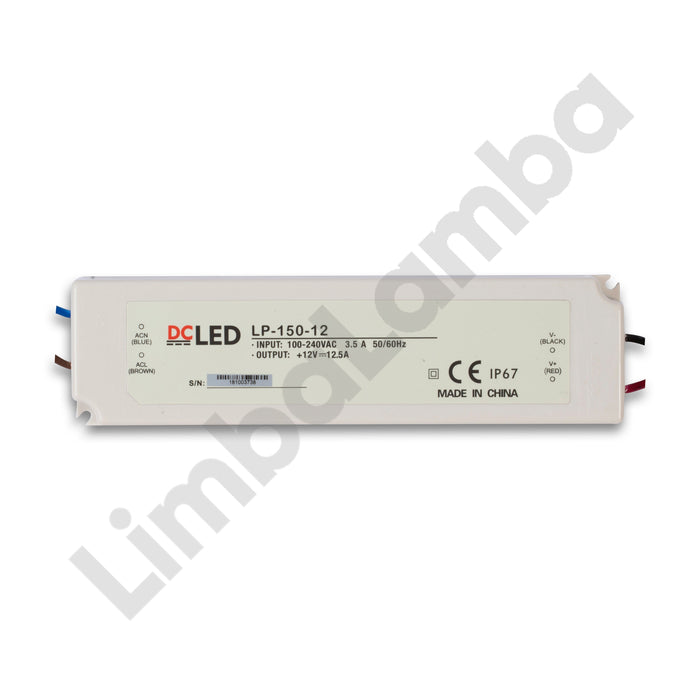 DCLED LP150-12 Indoor - PVC Case 150W - 12V Constant Voltage LED Driver