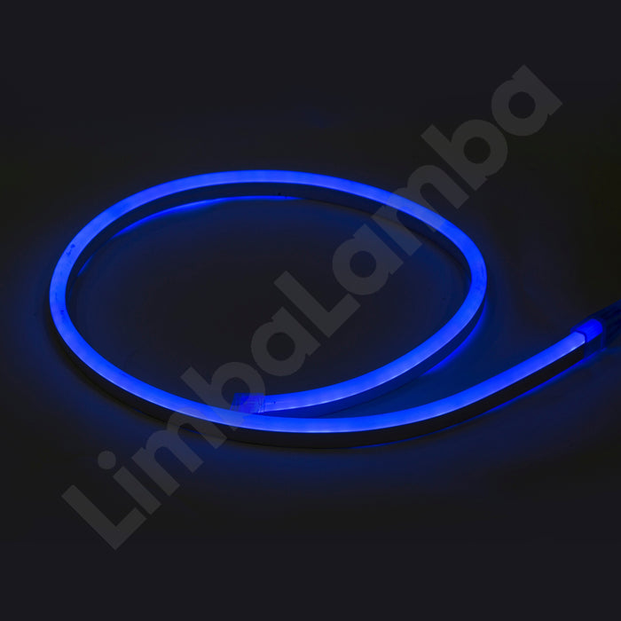 SAMSUNG  2835 8mm 108Chips/m AC 220V Outdoor NEON Led Blue 1Meter / 39''