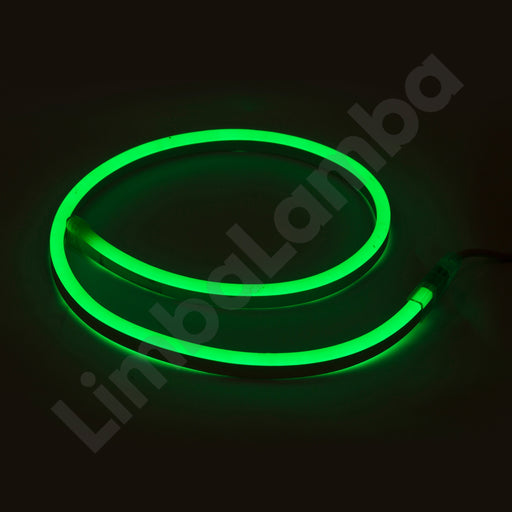 SAMSUNG  2835 8mm 108Chips/m AC 220V Outdoor NEON Led Green 1Meter / 39''
