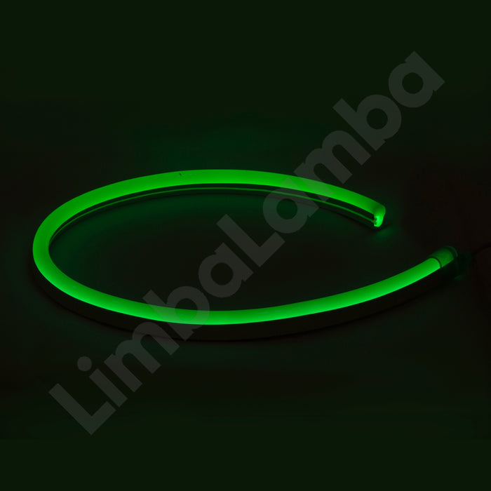 SAMSUNG  2835 16mm, 108Chips/m, Outdoor NEON Led Green 1Meter / 39''