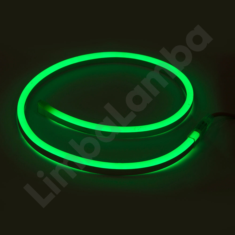SAMSUNG  2835 8mm 108Chips/m Outdoor NEON Led Green  1Meter / 39''