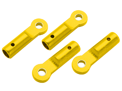 CNC AL Tail Boom Support End Set (Gold) - Blade 130X/200SRX/180CFX