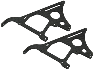 CNC CF Front Side Frame Set - Blade Red Bull 130X