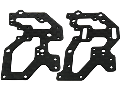 CNC CF Rear Side Frame Set - Blade Red Bull 130X