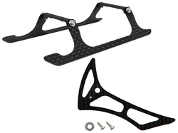 Rakonheli CNC Landing Gear and Tail Fin Combo (Black) - Blade 180 CFX, Trio 180 CFX