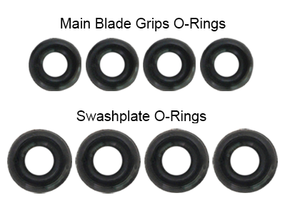 Rakonheli Head Rubber O-Ring Set - Blade 200SRX/S