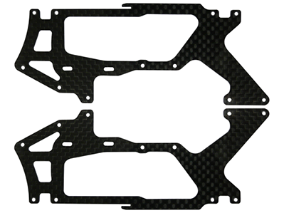 Rakonheli CNC CF Lower Side Frame Set - Blade 200SRX