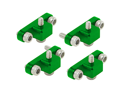 CNC AL Landing Gear Mount Set (Green) - Blade 230 S