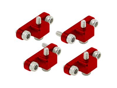CNC AL Landing Gear Mount Set (Red) - Blade 230 S