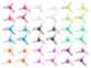 Rakonheli 31mm 3 Blade Clear Propeller Set (18CW+18CCW; 0.8mm Shaft) (9 Colors)
