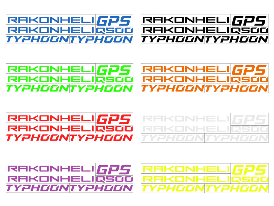 Stickers Skin for Rakonheli CNC Advanced Upgrade Kit (8 Colors)