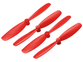 56mm Propeller (2CW+2CCW; 1.0mm Shaft) (Red)