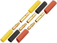 3.0mm Gold Connectors (3 Male & 3 Female)