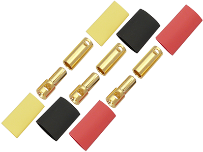 5.5mm Gold Connectors (3 Male & 3 Female)