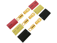 6.0mm Gold Connectors (3 Male & 3 Female)