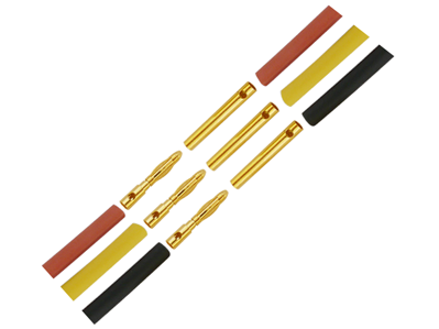 2.3mm Gold Connectors (3 Male & 3 Female)