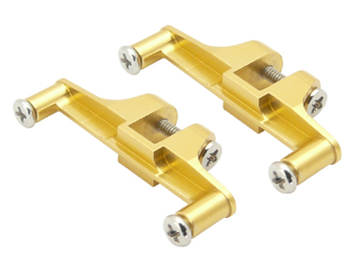 CNC AL Tail Servo Mount Set (Gold) - Blade 130X