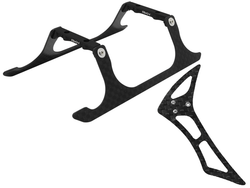 CNC Landing Gear and Tail Fin Combo (Black) - Blade 120 S