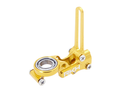 CNC Upper Main Shaft Bearing Block Set V2 (Gold) - Blade 120SR