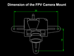 Rakonheli TPU Camera Mount-20 Degrees (for FX805 FPV Camera 25mW) - Blade Inductrix FPV Pro