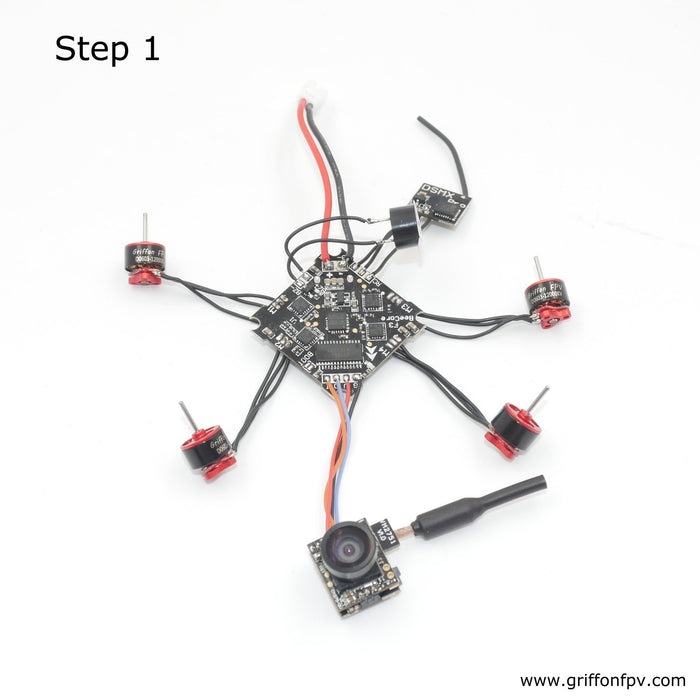 Build GriffonFPV 1S GRF65mm Brushless Whoop Quadcopter KIT Orange