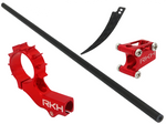CNC 8mm Tail Motor Mount w/3mm Stretch Tail Boom Set - Blade mCPXBL