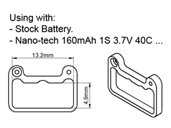 Rakonheli CNC POM Battery Mount Set