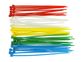 Plastic Tie Wrap/Cable Tie (Blue, Green, Red, White, Yellow) (50pcs)