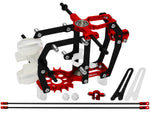 Rakonheli CNC AL Carbon Main Frame w/AL Tail Boom Support Set - Blade mCP S