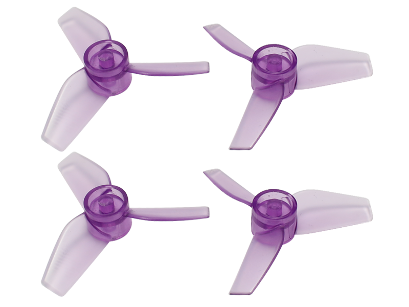 Rakonheli 40mm 3 Blade Transparent Propeller (2CW+2CCW; 1.0mm Shaft)