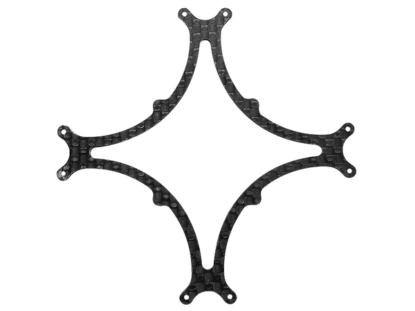 Rakonheli CNC 3K Pure Carbon Fiber Bottom Frame Support (1.0mm) (for 80DQX980)
