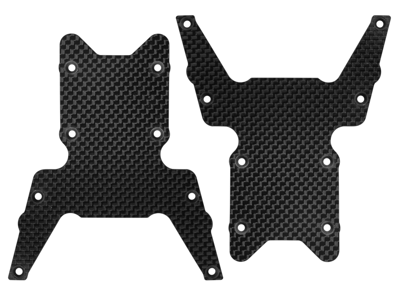 Rakonheli CNC 3K Pure Carbon Fiber Lower Front Rear Chassis Plate (2) - LOSI 1/8 LST XXL2-E